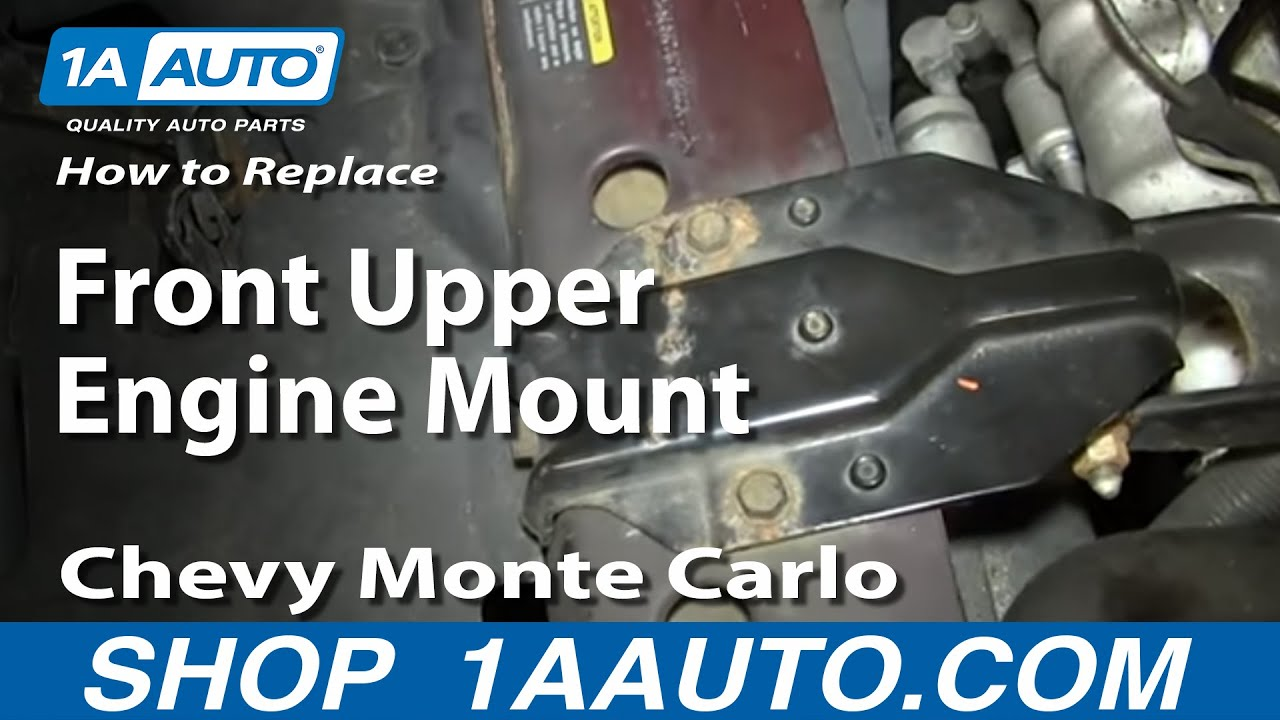 how to install replace front upper engine mount 2000 07 chevy monte rh youtube com