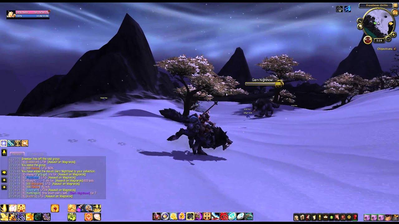 Elegant How Garn Nighthowl Mount From Nok Karosh Looks WoD   YouTube