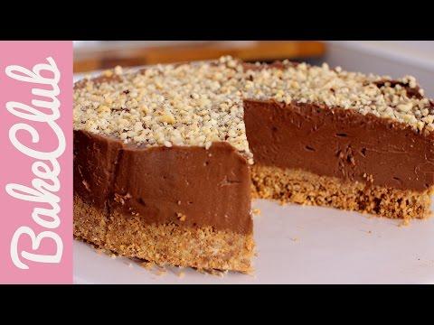 Nutella No Bake Cake  | BakeClub