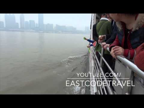 Wuhan yangtze river crossing by slow ferry