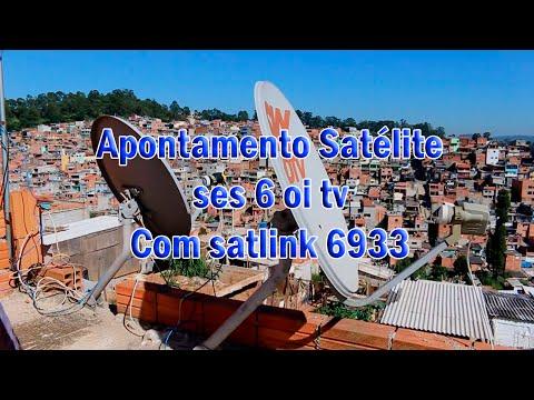 Apontamento do satelite ses 6 40.5w oi tv com satlink 6933