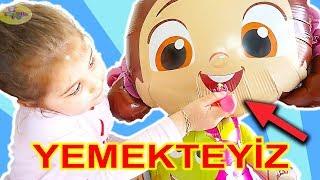 Niloya and Eylul dinner - vegetable fruit Cupcake logic - fun Cartoon taste - Tontik Tv