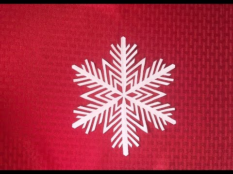 How to make an easy snowflake