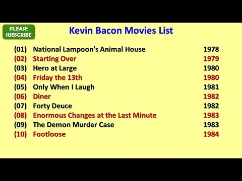 Kevin Bacon Movies List