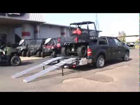 Loading A Polaris Ranger 400 Into F 150 Truck Using Ramp
