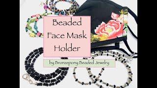 Beaded Face Mask Holder