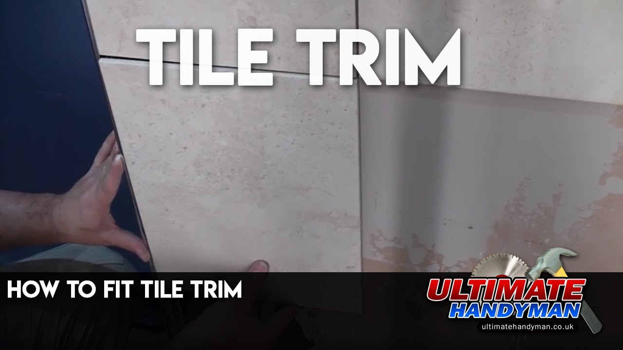Tile Bathroom Trim how to fit tile trim - youtube