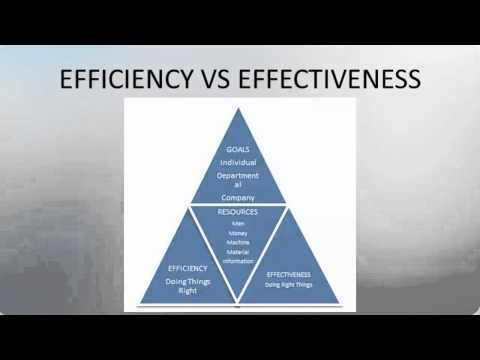 DIFFERENCE BETWEEN EFFICIENCY AND EFFECTIVENESS
