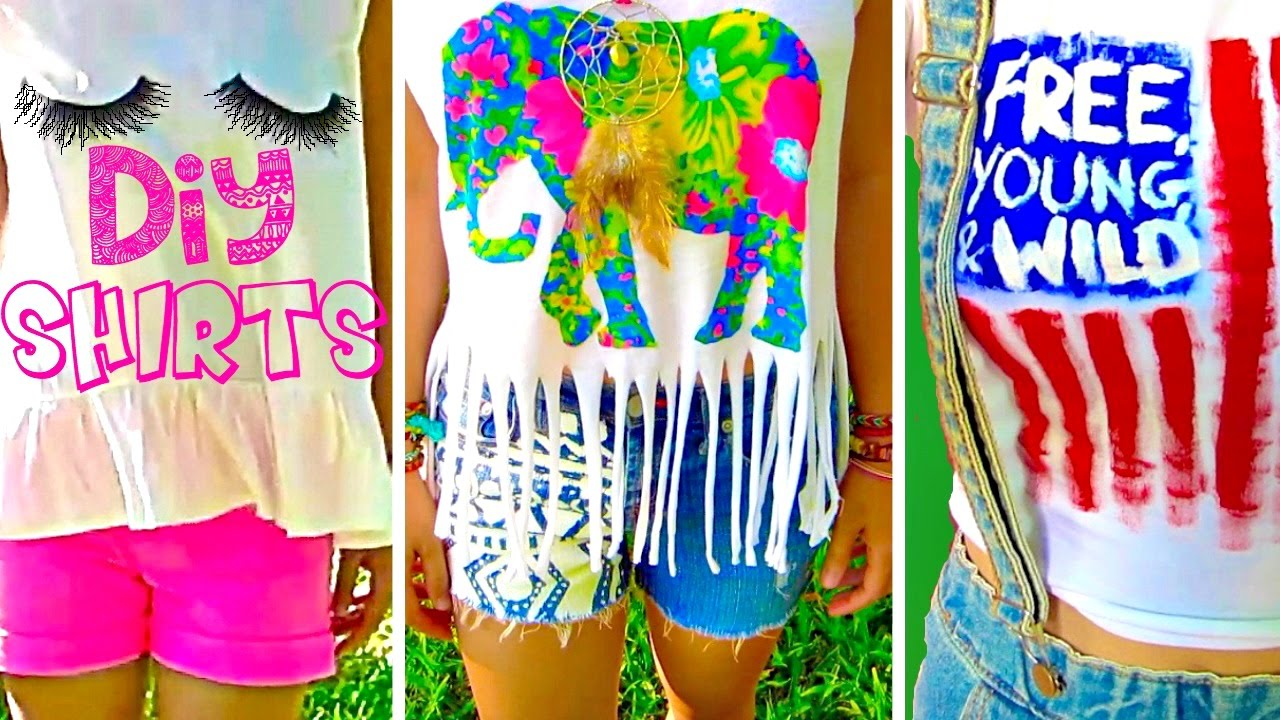 Diy Clothes Easy No Sew T Shirt Ideas Inspired By Tumblr