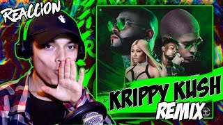 Video Reaccin Farruko, Nicki Minaj, Bad Bunny Krippy Kush Remix Lyric Video ft. 21 Savage