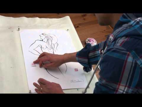 Henry Li Carving 2 Artist Name Seals for Bill Buchman