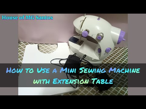 How to Use a Mini Sewing Machine w/ Extension Table   Tutorial   MG