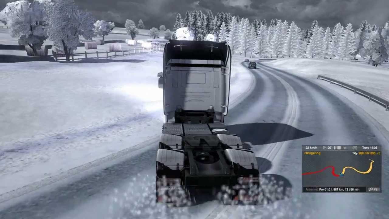 зима в euro truck simulator 2