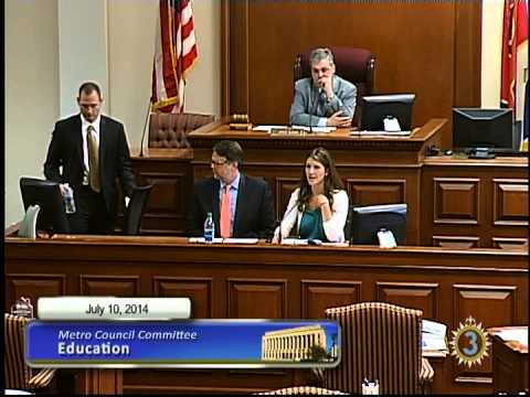 07/10/14 Metro Council Education Committee Meeting