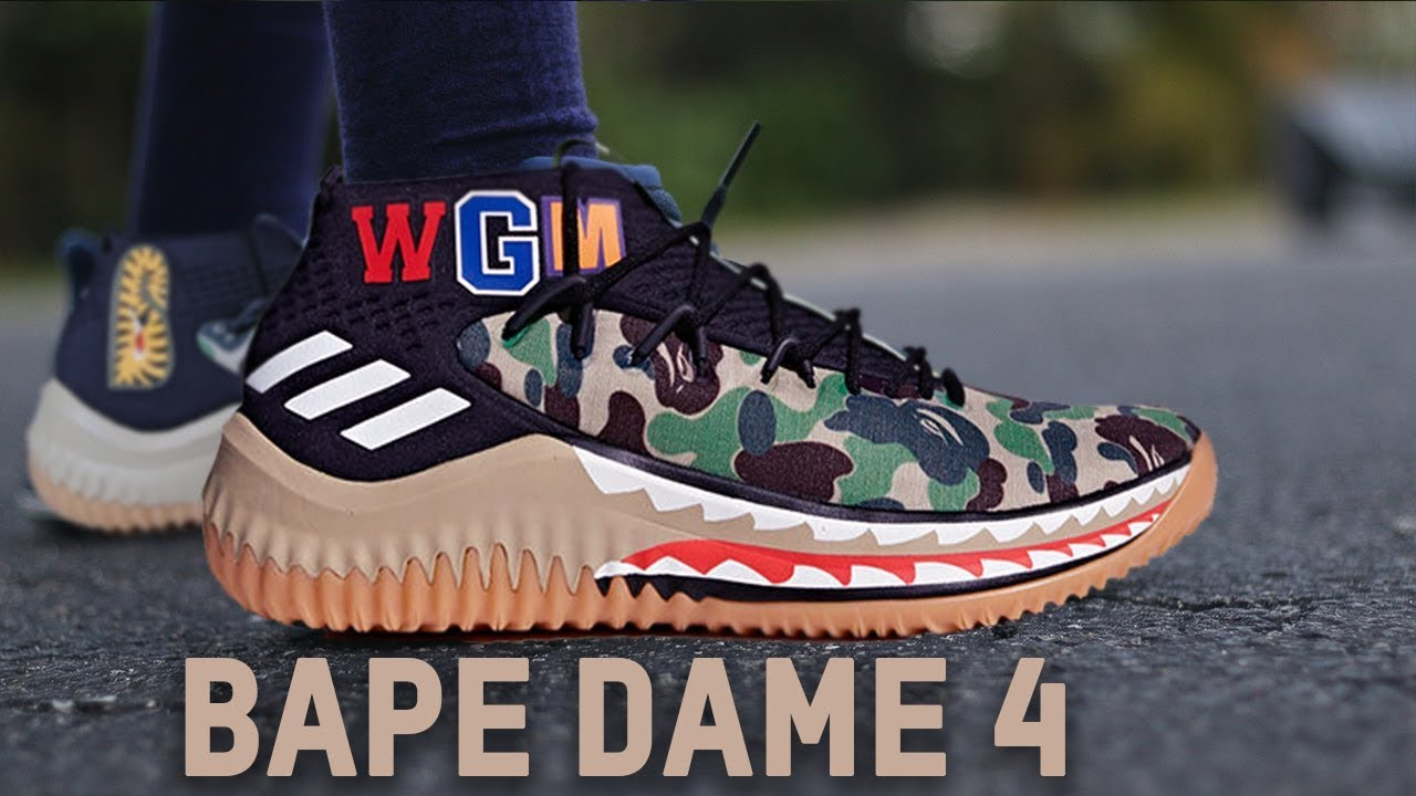 f73dbcad9b122 ADIDAS DAME 4 BAPE REVIEW!!! - YouTube