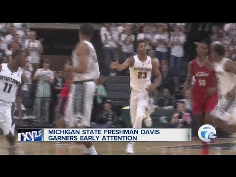 Michigan State freshman Deyonta Davis gathering early praise