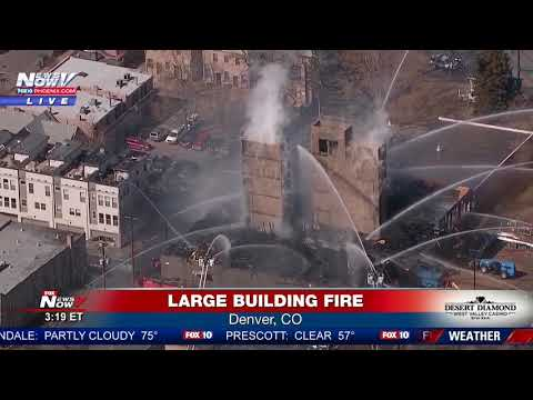 MULTI-ALARM FIRE: In building under construction in downtown Denver, CO (FNN)