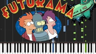Futurama - Main Theme [Piano Tutorial] (♫)