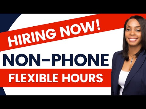 🔥 Non-Phone Work@Home Jobs W/ Flexible Hours (Worldwide)