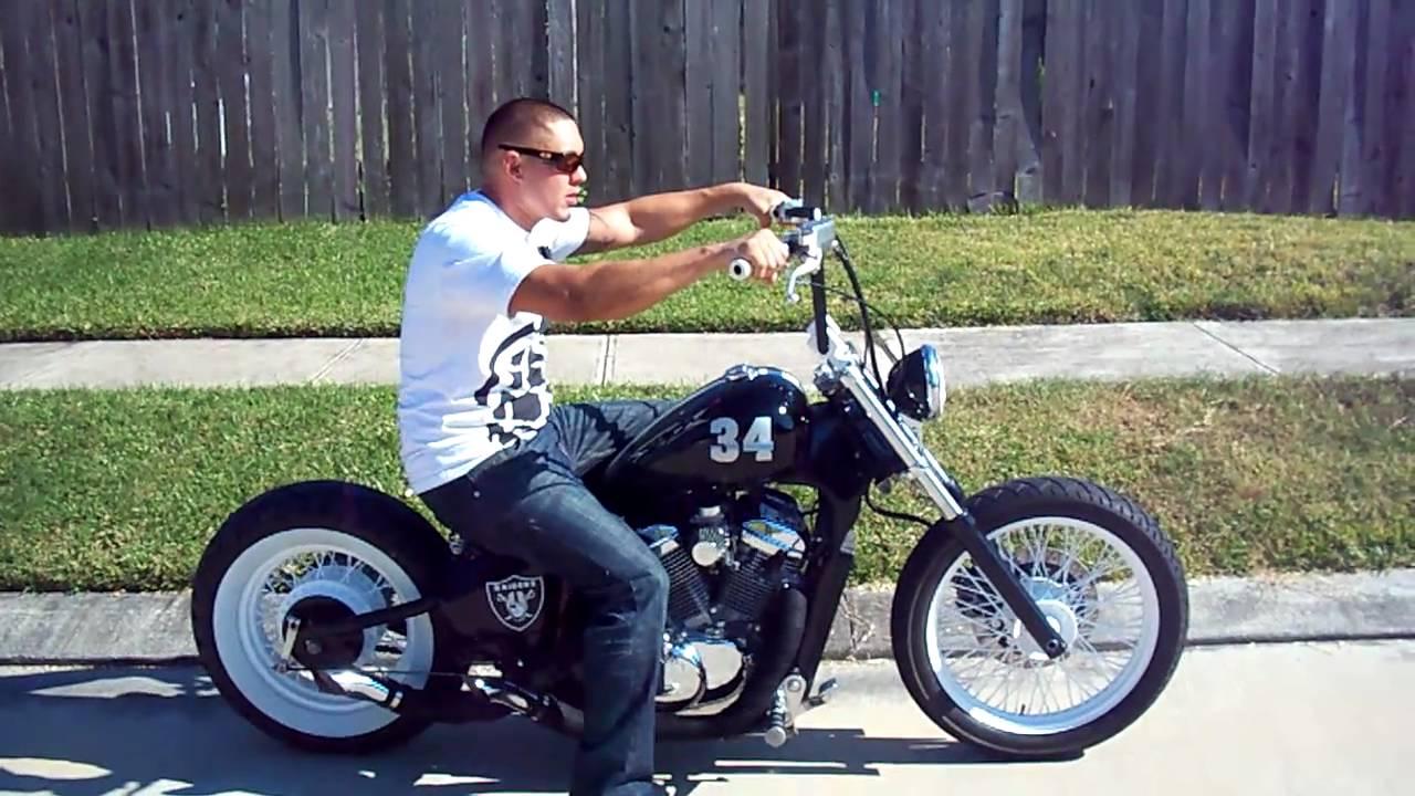 bo jackson raiders bobber vlx 600 ride away youtube