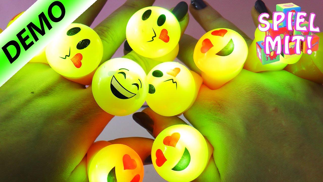 Blinkende emoji ringe party deko mit lustigen