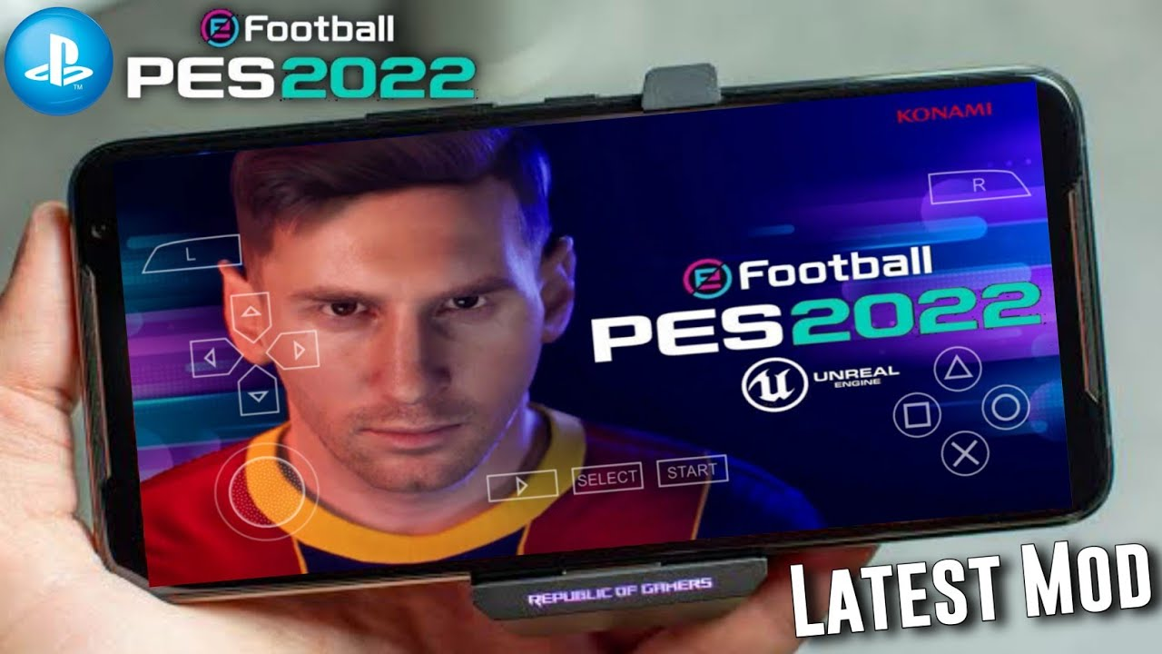 PES 2022 Mobile Download For Android (PS5 Graphics,Camera) । PES 2022 PPSSPP Download For Android