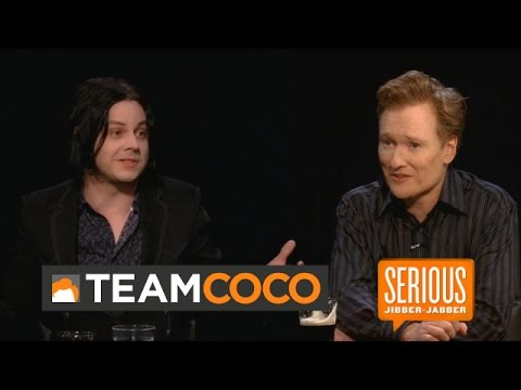 Rocker Jack White - Serious Jibber-Jabber with Conan O