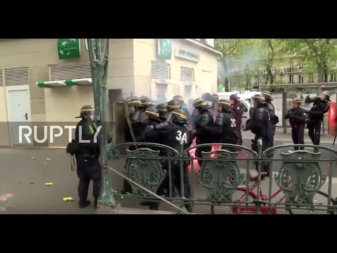France: Protesters battle police during Paris demo against elections