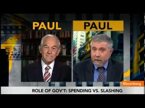 Ron (Austrian) Paul vs Paul (Keynesian) Krugman