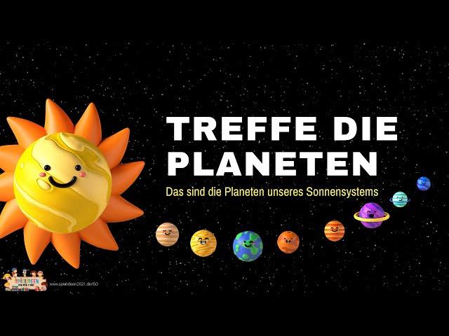 Triff die Planeten 🌎🪐 -  Unser Sonnensystem ☀️ I Spielideen von Ben & Max - www.spielideen2021.de/GO
