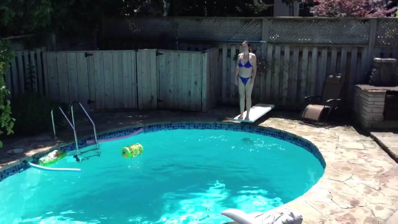 thuis zwembad youtube