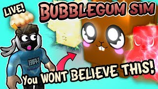 Bubblegum Simulator Live Giveaway 🔴 Ancient Egg Pets + Chocolate Bunny (Roblox) Update 25 💜