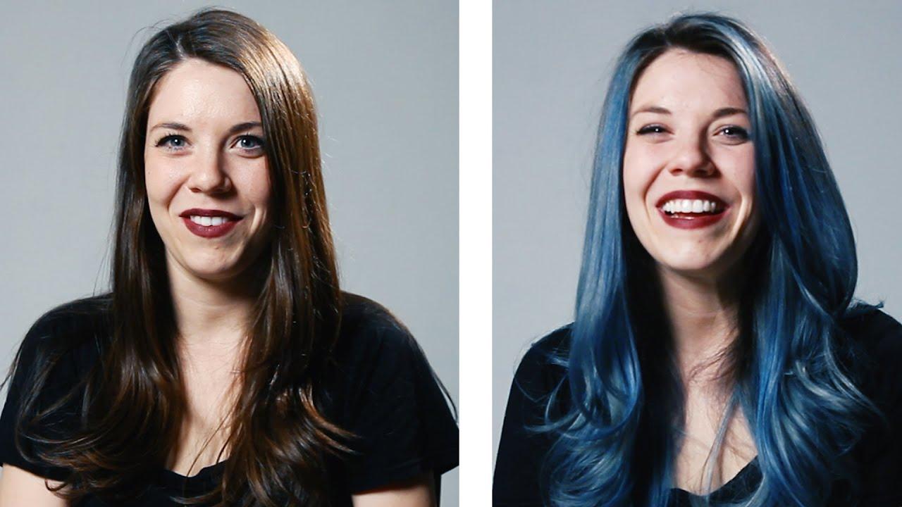 women dye hair