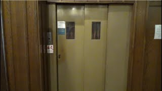 Manual Doors! 1930 Waygood-OTIS Gated Traction Lift/Elevator @ The Cambridge Hotel, Wellington, NZ