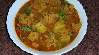 गोभी आलू की रसेदार सब्जी cauliflower potato curry recipe aloo gobi recipe video
