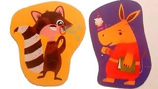 Пазлы для малышей/Пазлы Енот и Носорог | Raccoon and Rhino Puzzles for Kids | Kapelka