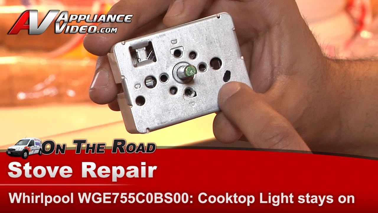 Whirlpool, Matytag & RCA Stove - Cooktop indicator light constantly on