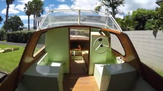 Jim Young Hi Fi wooden trailer boat.