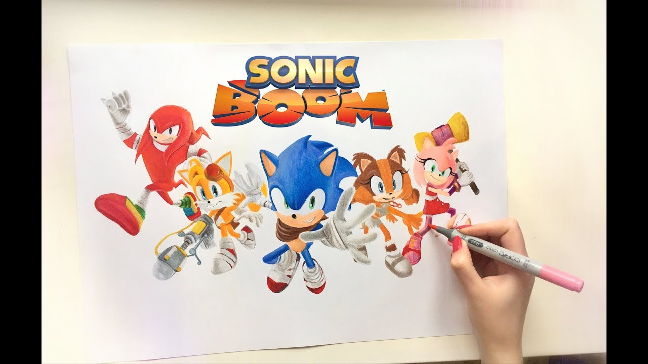 Drawing Team Sonic From Sonic Boom Youtube