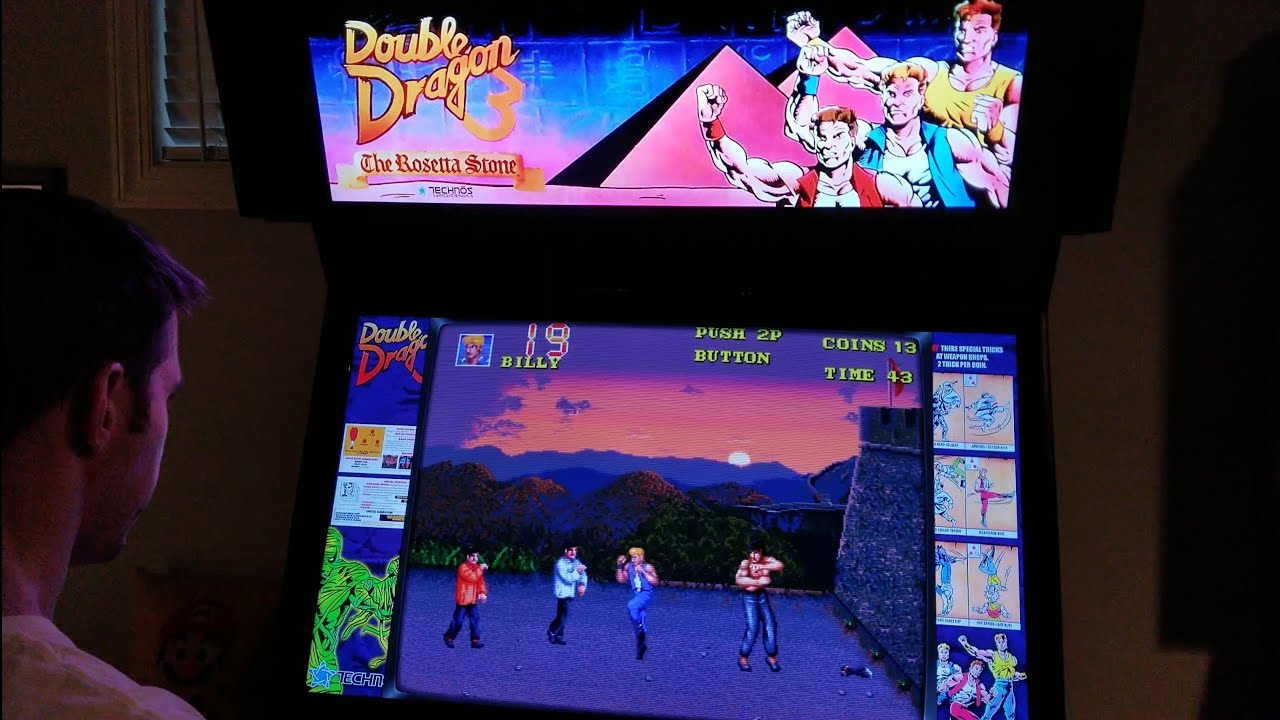 Double Dragon 3 The Rosetta Stone Arcade Cabinet Mame Playthrough