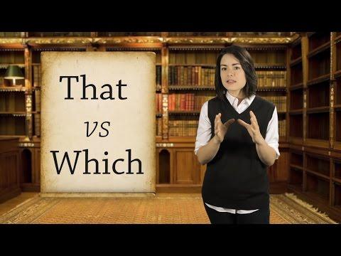 English Grammar Basics: That vs Which