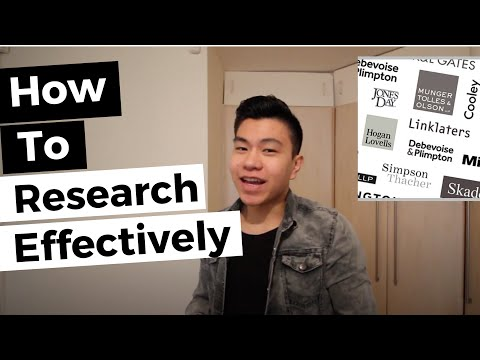 How To Research Law Firms   Training Contract & Vacation Scheme Application Series #1