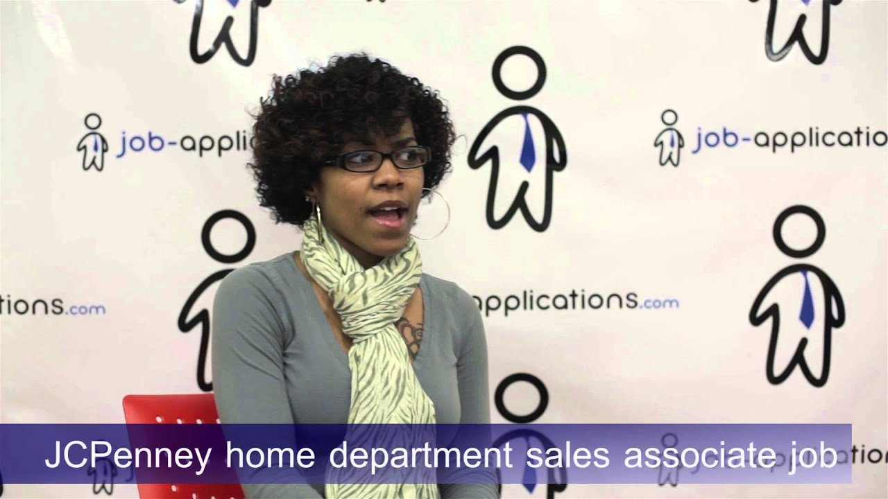 jcpenney interview home department sales associate youtube