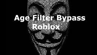 Roblox Age Filter Bypass (Change your age if under 13) so no hashtags/ sorry patchedt