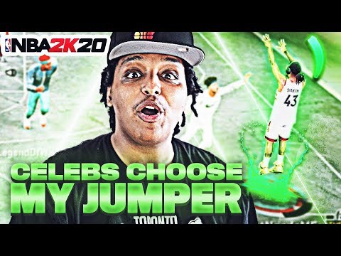 CELEBRITIES HELPED ME FIND THE PERFECT JUMPSHOT ON NBA 2K20!! EXCELLENT RELEASES FROM HALF-COURT!