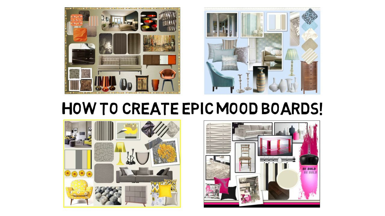 mood board for interior design | Brokeasshome.com