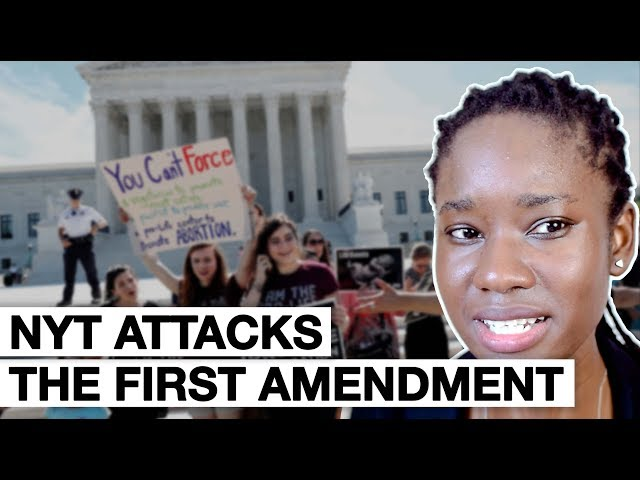 NYT ATTACKS THE FIRST AMENDMENT - My Response