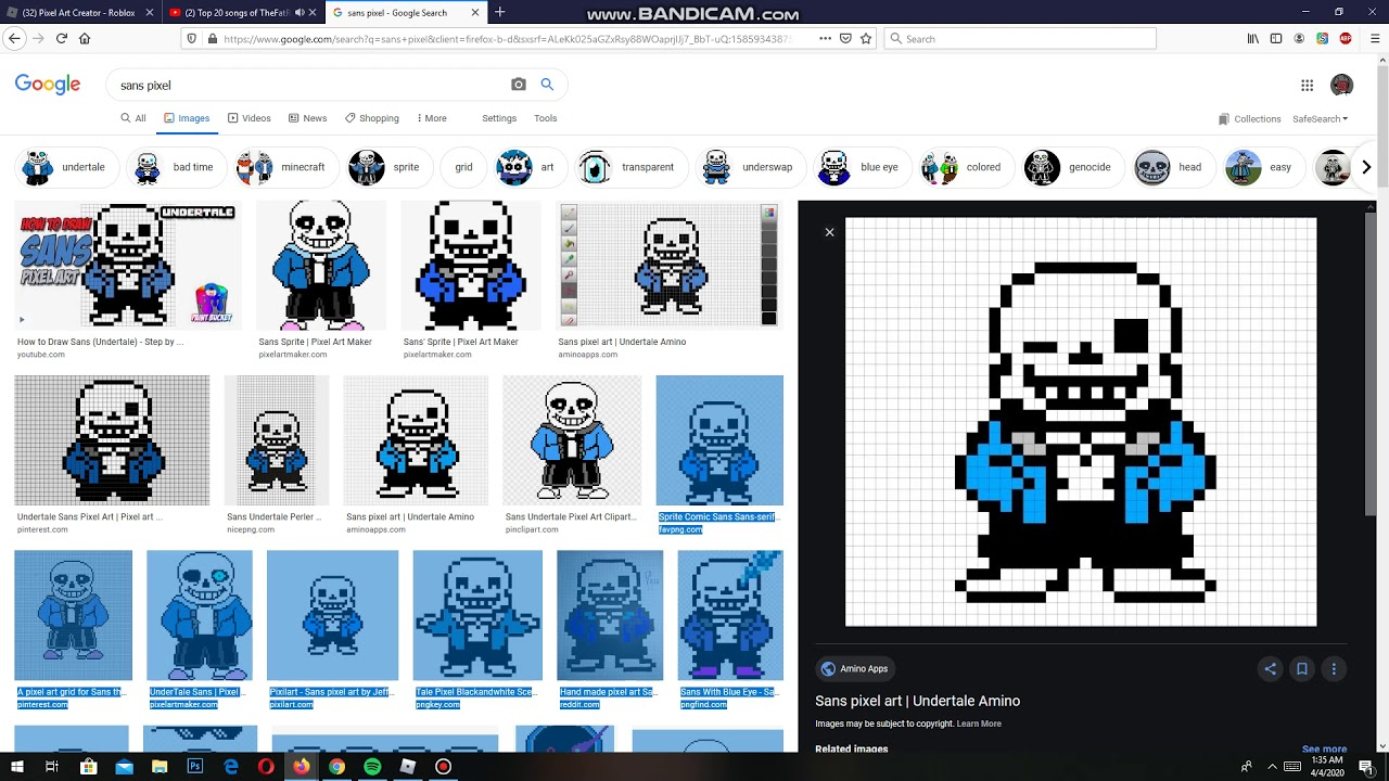 Pixel Art Creator Sans Youtube