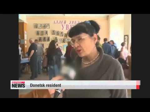 Referendum vote for self rule ends in eastern Ukraine