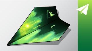 Easy Paper Aiplane Design that Flies Really Far —How to Fold Plasma Y